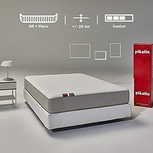 Pikolin Cala, colchón viscoelástico y espuma HR, 90x190, firmeza media-alta, confort visco, calidad máxima, protección higiénica total