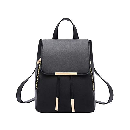 Dames rugzak, reistas, PU-leer, met rug, zwart, eenvoudig, elegant, hoge capaciteit, verstelbaar, schoudertas voor liefde/moeder