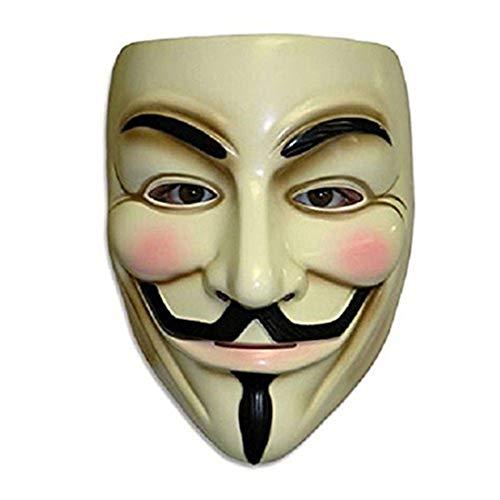 V For Vendetta Mask, Hacker Mask for Costume Kids - Anonymous Guy Fawkes Masks for Halloween