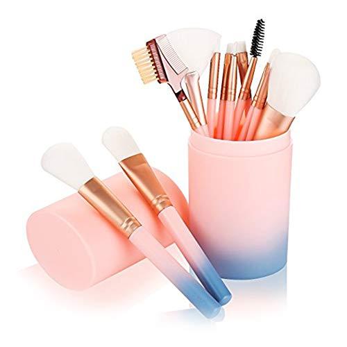 12 PCS Makeup Brush Set pennelli trucco per Fondazione Ombretto Eyeliner del sopracciglio di arrossisce polvere di profilo di Concealer