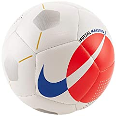 Hand-sewn construction is durable and abrasion resistant Textured casing provides great touch and feel Official Futsal size and weight PRO: Ages 12 and up; equivalent to a size 4 soccer ball YOUTH: Ages 6-12; equivalent to a size 2-3 soccer ball