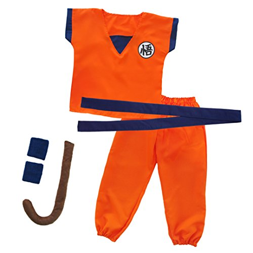 papapanda Kinder Trainingsanzug für Son Goku Drachen Kostüm L