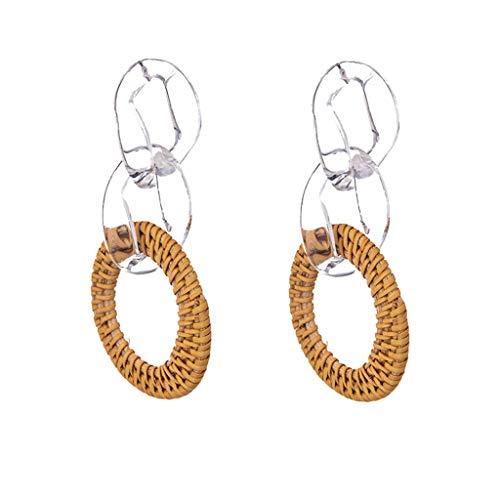 Peigen Dangle Earrings for Women Earrings Multilayer Geometric Circle Nesting Drop Earrings Jewelry Bar Earrings Punk Style