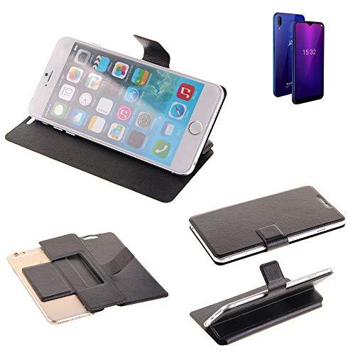K-S-Trade® Schutz Hülle Für Allview Soul X6 Mini Schutzhülle Flip Cover Handy Wallet Case Slim Handyhülle Bookstyle Schwarz