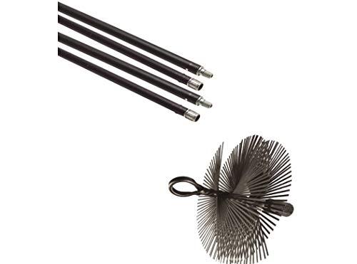 Flower - Kit Deshollinador Mecan.5 Cañas+Erizo Acero 50253