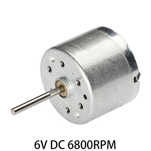 Aexit 6 V DC 6800 RPM Hochleistungsdrehmoment Magnetischer Mini-Elektromotor 2 Klemmen Stecker für Elektrowerkzeuge (a6f933eeed44662cb80af4c6ee70df29)
