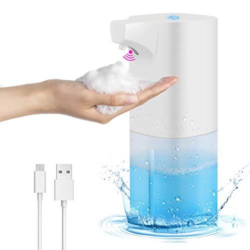 Chenci 350ML Seifenspender Automatisch Touche Schäumende Seifenspender mit Sensor Infrarot, Berührungslos Schaumseifenspender für Bad/Küche