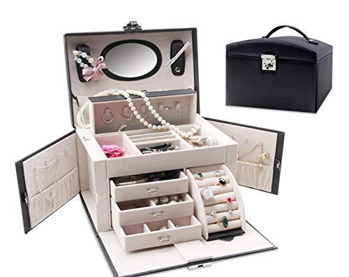 GonFan Handige cosmetica-zakje, cosmetica-opslag, robuuste damessieraden, draagbare opbergdoos voor kleine voorwerpen.