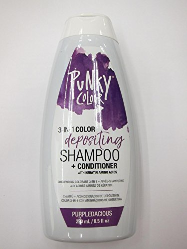Punky Color Depositing Shampoo + Conditioner, Purpledacious, 8.5 fl oz (Pack of 2)