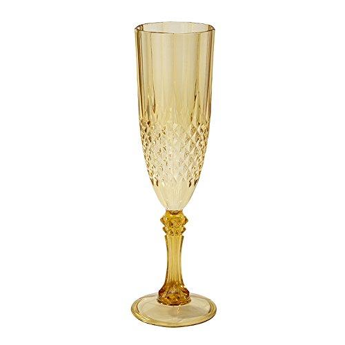Talking Tables Party Porcelain; Goldfarbene Kunststoff-Sektflöte für Weihnachten, Hochzeiten und Dinnerpartys, Gold