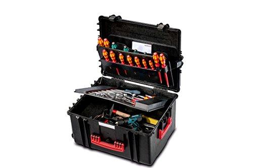 PARAT 6582.501-391 PARAPRO Werkzeugkoffer rollbar mit CP-7 Werkzeughalter, schwarz (Ohne Inhalt)