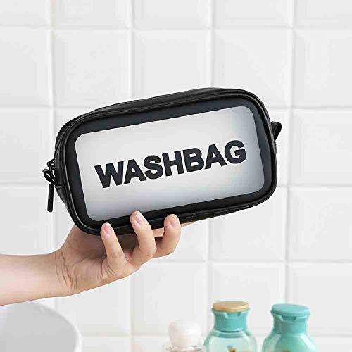 OYHBGK 1 Pc Effacer Femmes Sac À Cosmétiques PU Femmes Sac De Maquillage Esthéticienne Beauté Cas Trousse De Toilette Make Up Pouch Wash Bags