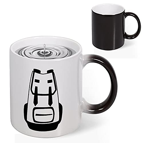 Heat Changing Mug - Add Coffee or Tea Sensitive Color Changing Mug Cup, Hiking Black Backpack for Women Men Kids