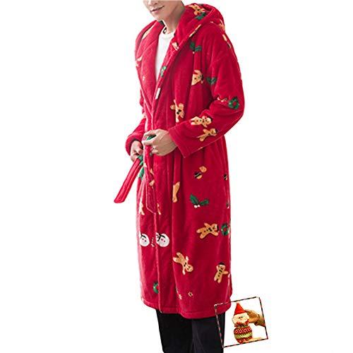 Pyjama für Paare, Korallen-Samt-Bademantel, lang, Damen-Nachthemd, Doppeltasche,...