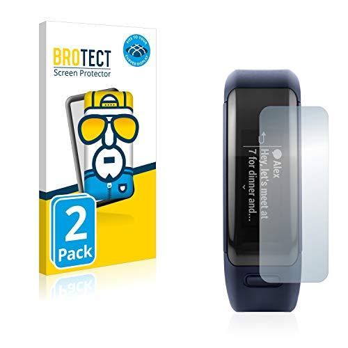 BROTECT Full-Cover Schutzfolie kompatibel mit Garmin Vivosmart HR (2 Stück) - Full-Screen Bildschirmschutz-Folie, 3D Curved, Kristall-Klar