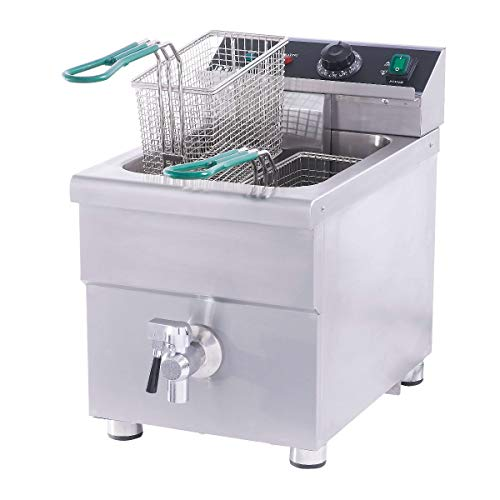 NAKS IFS-15 15-Pound ETL Listed Commercial Induction Countertop Fryer
