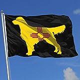 Zudrold Außenflaggen New Mexico Flagge Golden Retriever Hunde Flagge für Sportfan Fußball Basketball Baseball Hockey