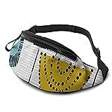 mengmeng Forma de estudio tallos Bumbag cintura Fanny Pack Running Belt Hombres Mujeres Unisex Bum Bag ajustable bolsa de cinturón para entrenamiento al aire libre senderismo regalos