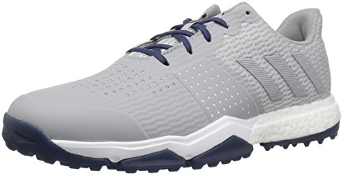 adidas Men's Adipower s Boost 3 Golf Shoe, Grey/Noble Indigo, 9.5 M US