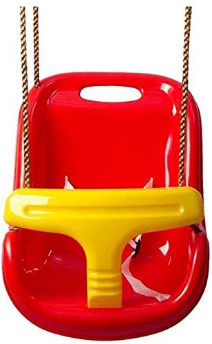 Columpio al aire libre/ Columpio infantil con apoyabrazos del asiento de bebé con altura ajustable de bebé y niños oscilación del jardín con poste de seguridad y cinturón de seguridad /Columpio infant