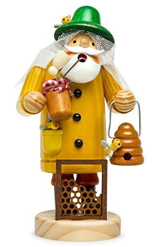 Sikora RM-A Räuchermännchen aus Holz 3 Größen Verschiedene Motive, Größe:Höhe ca. 19.5 cm, Farbe/Modell:A27 gelb - Imker