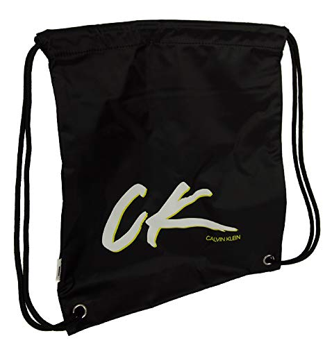 Calvin Klein Bolsa de viaje o gimnasio deporte CK artículo K90KK00001 DRAWSTRING BACKPACK, BEH Pvh black, UNICA - ONE SIZE