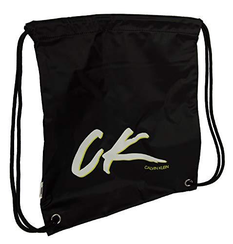 Calvin Klein Beutel Reisetasche oder Gym Sport CK Artikel K90KK00001 DRAWSTRING BACKPACK, BEH Pvh black, UNICA - ONE SIZE