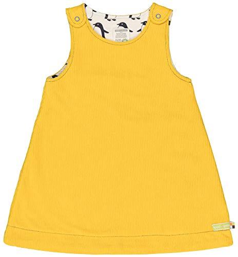loud + proud Mädchen Wendekleid Cord Aus Bio Baumwolle, GOTS Zertifiziert Kleid, Gelb (Honey Hon), 116 (Herstellergröße: 110/116)