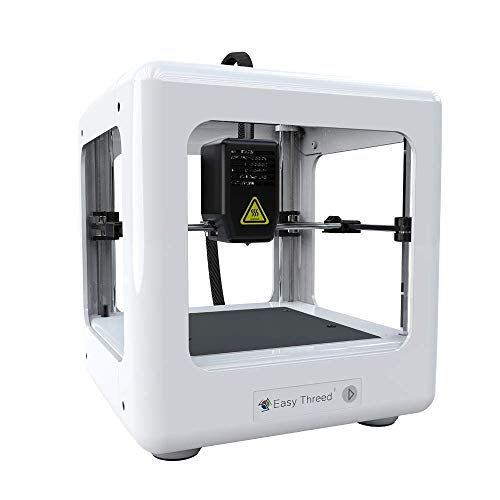 Easythreed Desktop 3D printer Mini Diy printer,Removable Building Platform,Small and light, Very low noise,High printing accuracy ,Easy Operation suitable for beginners of 3D printing (White)