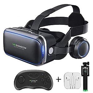 Qianyuyu Occhiali VR 3D Visore Realtà Virtuale Occhiali Headset Virtual Reality Virtuale Giochi Film 3D per iPhone XS/Max X 8 7 6 6S /Plus Samsung S8 S7 & 4.5-6 '',002