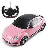 Rastar Radio Remote Control 1/14 Scale Volkswagen Beetle Licensed RC Model Car (Pink)