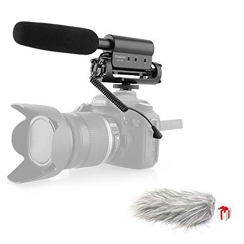 TAKSTAR SGC-598 Interview Shotgun Mic On Camera Video Microphone for Nikon Canon DSLR Camera with Furry Windscreen Muff, OPEN BOX