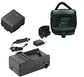 Panasonic HDC-TM20 Camcorder Accessory Kit includes: SDM-130 Charger, SDC-27 Case, SDVWVBG130 Battery