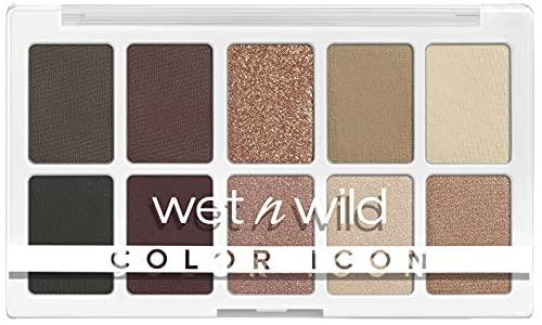 wet n wild, Color Icon 10-Pan Palette, Palette di Ombretti, 10 Colori Riccamente Pigmentati per il Trucco di Tutti i Giorni, Formula a Lunga Durata e Facile da Sfumare, Nude Awakening