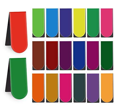 60 Pezzi Segnalibri Magnetici Marcatori in Tinta Unita di Pagina Libro, Segnalibro Clip Colorato per Studenti Ufficio Scuola Insegnanti