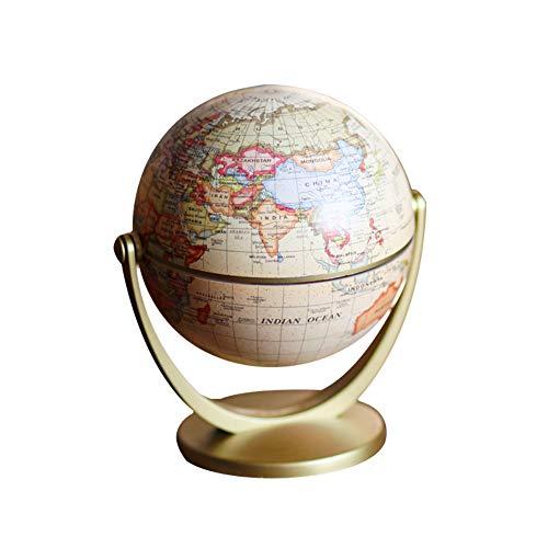"""Ruiting Mapa del Mundo Antiguo Globo 4.7"""" Plastic Geografía Globo de"""