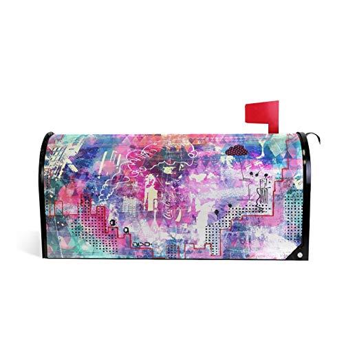 Magnetischer Briefkastenüberzug für Reisen, Kunst, Collage, Malerei, Garten, Heimdekoration, Standardgröße 50,8 x 45,7 cm
