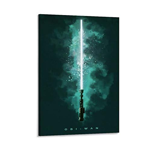 DRAGON VINES Star Wars Obi Wan Lichtschwert Poster, Kunstdruck, 40 x 60 cm