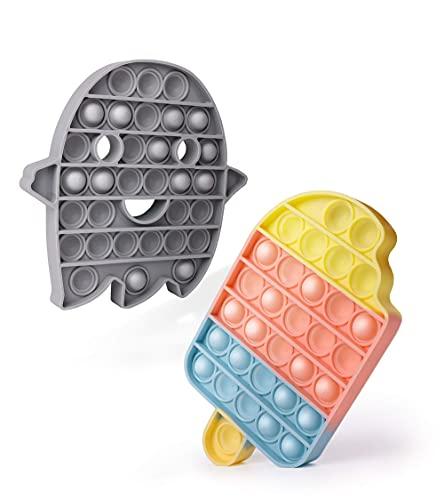 AnanBros [2er-Pack EIS + Geist Pop Fidget Toy Set Box, Pop Set, Push Pop Pop Bubble Fidget Toys, Baby Spielzeug, Pop figetttoys Set für Kinder, Erwachsene, Autismus ADHS, Poppet Antistress Spielzeug