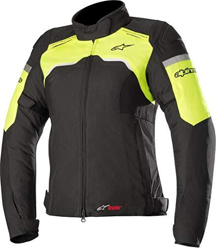 Alpinestars Motorradjacken Stella Hyper Drystar Jacket Black Yellow Fluo, Schwarz/Fluo, M