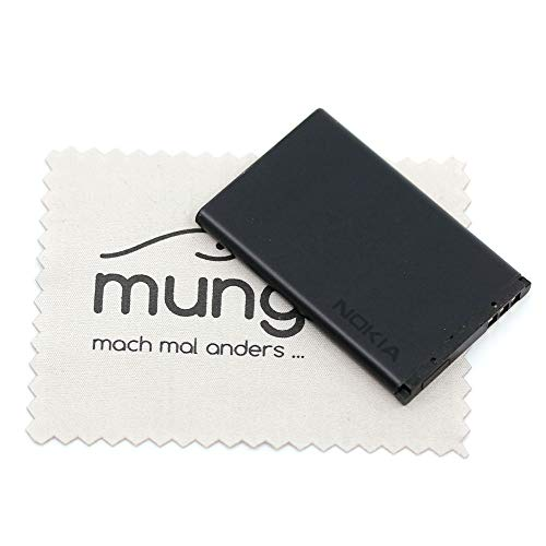 Batería para Nokia Original para Nokia 108 1661 1662 2220 Slide 2650 2652 2690 3500 Classic 5100 7200 7270 C2-05 X2 X2-02 BL-4C con mungoo pantalla paño de limpieza