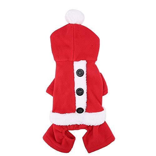 Fdit Pet Costume Dogs Clothes Christmas Xmas Party Decorative Cosplay Warm Winter Coat Fashionable Suits Outfit(M-Suit)