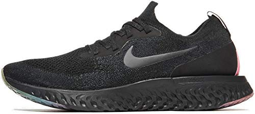 Nike Men's Epic React Flyknit BeTrue Black-Pink Running Shoes (11 M US)