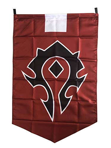 LinkStart Horde Insignia Allianz Banner Flagge-Emblem Orc Poster Rot