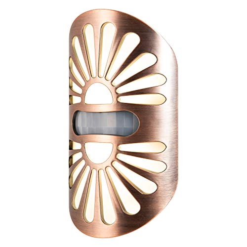 GE Enbrighten LED Night Light, Motion-Select Sensor, 40 Lumens, Dusk-to-Dawn, 25 ft. Detection Range, UL-Listed, Ideal for Bedroom, Nursery, Bathroom, Hallway, Peacock, Oil Rubbed Bronze, 37261