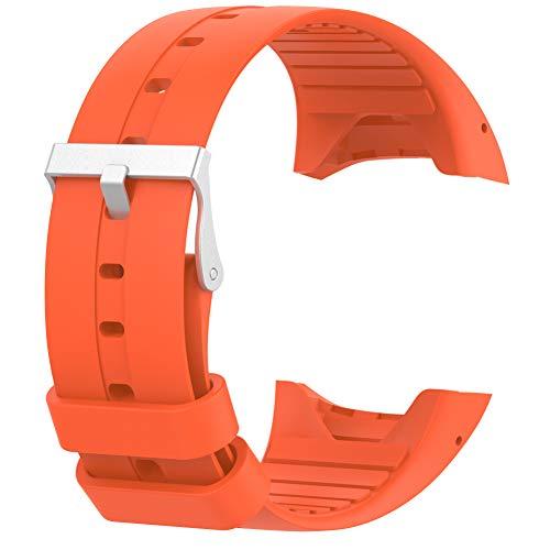 RYRA Cinturino per orologio in silicone compatibile con Polar M400/M430, traspirante, per sport e fitness tracker, 236 mm