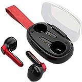 Leeofty TWS B60 True Auriculares inalámbricos Auriculares Bluetooth 5.0 Auriculares Deportivos inalámbricos Mini Auriculares para Juegos de música con micrófono Smart Touch para Correr y Gimnasio