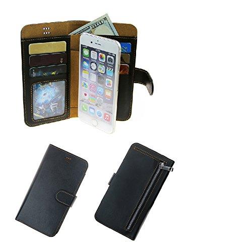 K-S-Trade Schutzhülle Kompatibel Mit Fujitsu Arrows U Schutz Hülle Portemonnaie Case Phone Cover Slim Klapphülle Handytasche E Handyhülle Schwarz Aus Kunstleder (1 STK)