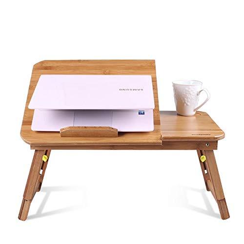 LLA opvouwbare laptop tafel draagbare pc stand computer laptop tafel met muis platform antislip bar 68 cm Zonder lade