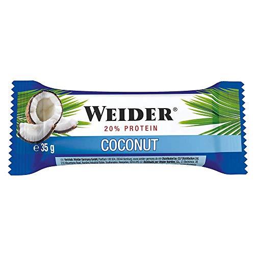 Weider - BodyShaper Protein Plus Energy - Riegel 24er Box Coconut